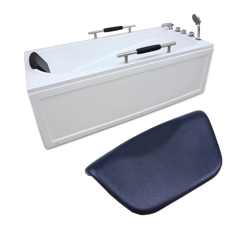 WHISM SPA Bath Pillow Non-slip Bathtub Pillow Soft Headrest Waterproof PU Bath Pillows with Suction Cups Bathroom Accessories ...