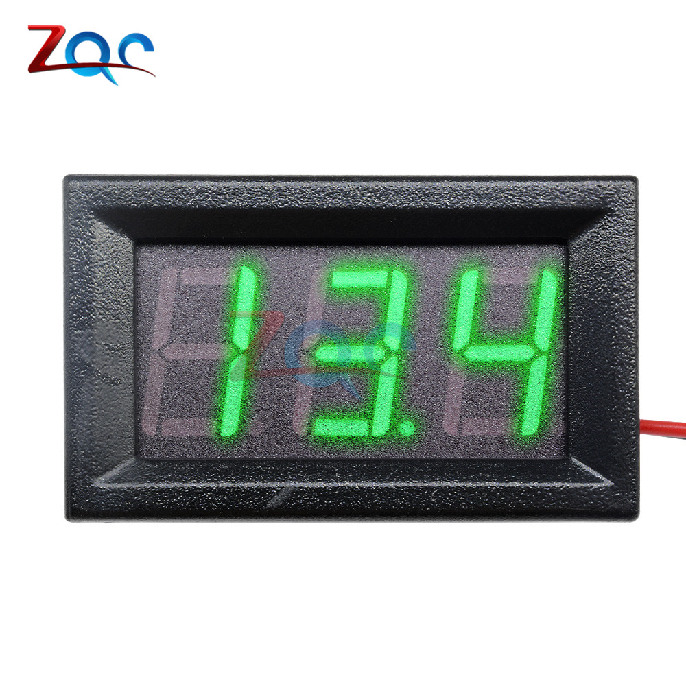 HTB1sbFoXfWG3KVjSZFgq6zTspXao 0.56'' Mini LED Digital Voltmeter Detector DC 0-100V 12V 24V Voltage Capacity Monitor Volt Panel Tester Meter For Motorcycle Car