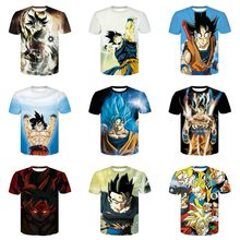 Nuovi Arrivi Uomini/Donne 3d T-Shirt Stampa Inverno Dragon Ball Quick Dry Estate Supera i t Magliette di Marca(China)