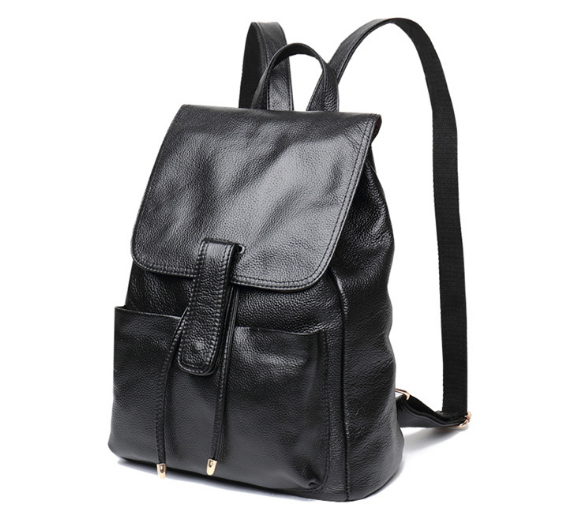 New Korean Style Genuine Leather Female Backpacks Hot Vintage Classic Casual Girl Shoulder Bag Fashion Teenager Schoolbag C144 new korean style genuine leather female