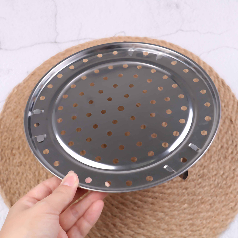 Stainless Steel Steamer Rack Pot Steaming Tray Stand Steamer Shelf Cookware Kitchen Accessories