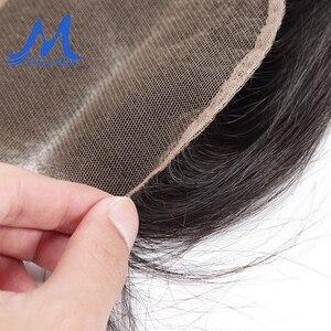 Image 5 - Missblue бразильские человеческие волосы на шнурке, прямые, 4x4, 5x5, швейцарское кружево, 100% Реми, волосы на шнурке, фронтальные, с детскими волосами