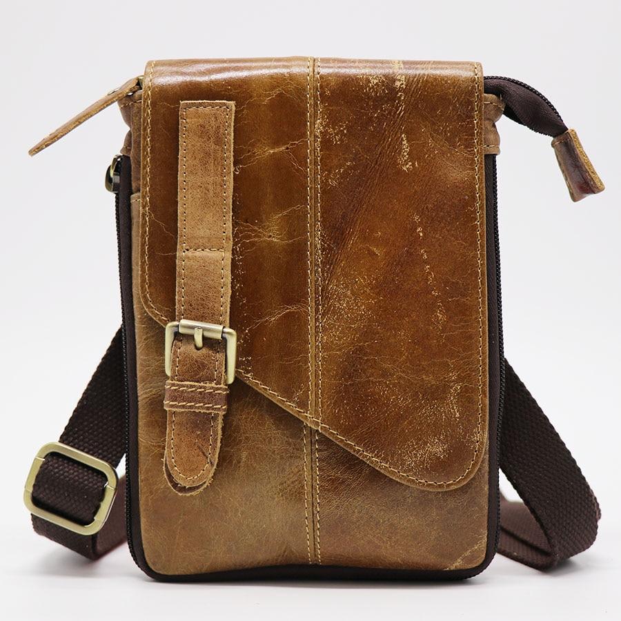 Vintage Genuine Natural Leather Casual Multi-funciton soma vīriešu - Rokassomas