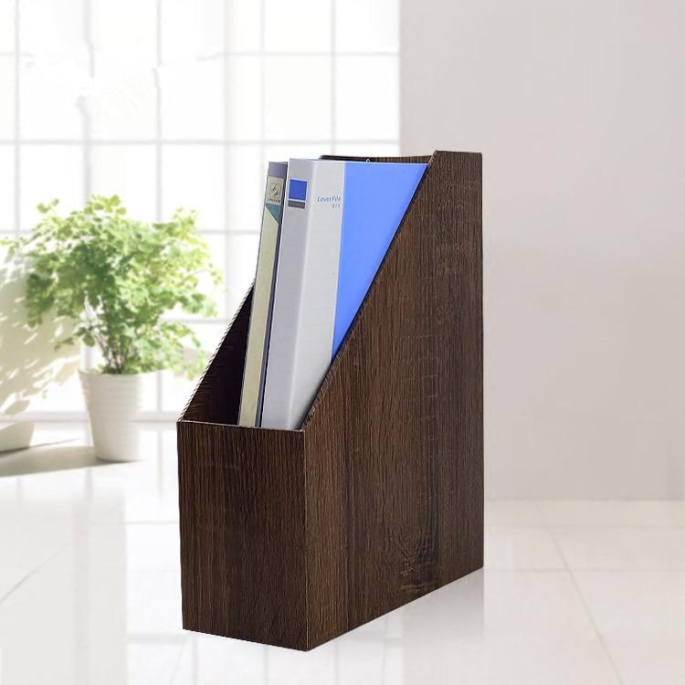 Office Storage Documents Shelf MDF Imitation Wood Grain Friendly Desktop Home Office Storage Box