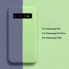 New Liquid Silicone Case For Samsung Galaxy S10 S9 S8 Plus S10e Note 9 8 A30 A50 A70 M10 M20 Microfiber Inner Silky Smooth Cover