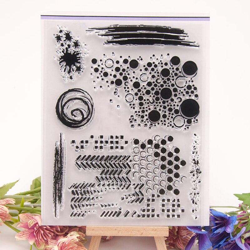 Cute Dot Art Graffiti Standard Rubber Clear Stamps Silicone Seals Scrapbooking Photo Album Paper Stencils Cards Decor Supplies