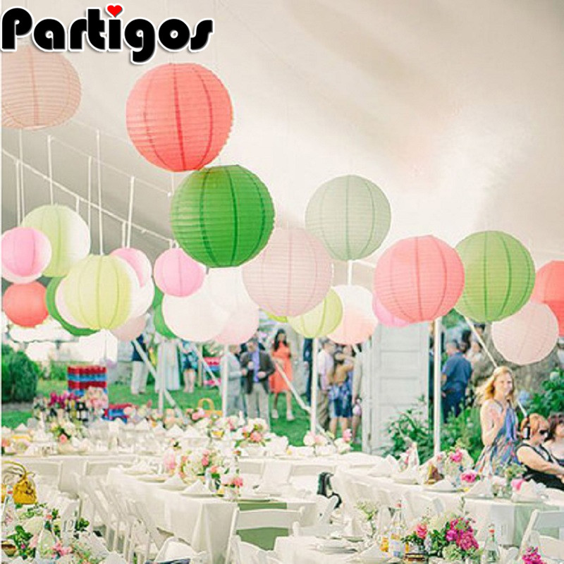 4/6/8/10/12 Inch Round Chinese Paper Lanterns Birthday Wedding Decor Gift Craft DIY Lampion Hanging Ball Party Supplies(China)