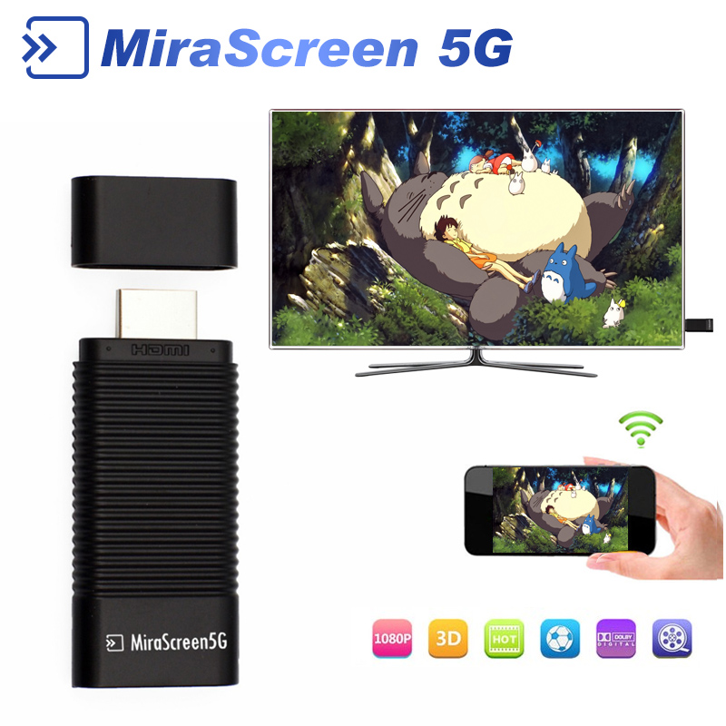 10pcs MiraScreen 5G TV Stick Android TV HDMI Dongle EasyCast Wireless Receiver DLNA Airplay Miracast Airmirroring Chromecast