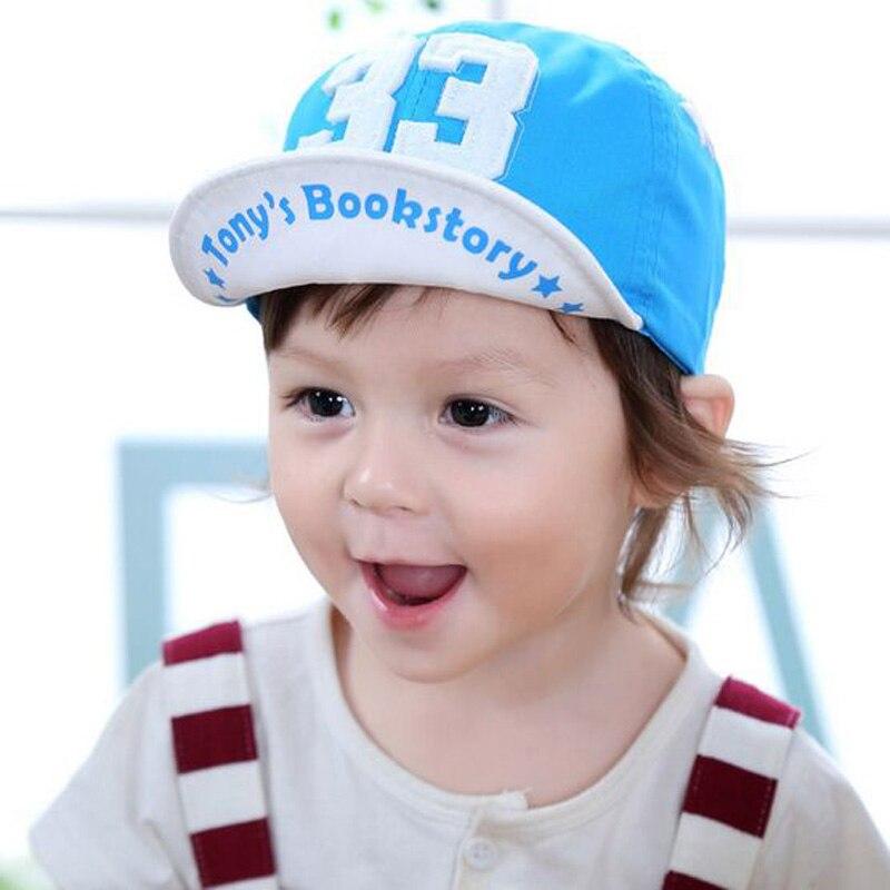 2017 Neue Jungen Hut Mit Brief 33 Kinder Baseball-mütze Palm Mädchens Sommer Baumwolle Mützen Weichen Visiere Snapback Ht52045 + 30
