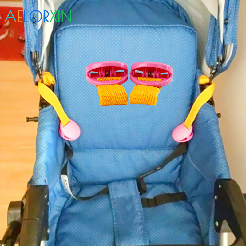 2Pcs/Lot Baby Stroller Clip Accessories Plastic Multifunctional Felt Portable