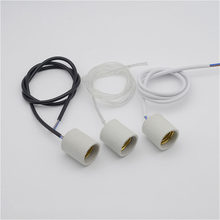 1PCS High temperature ceramic Lamp Holder, Pandent light lamp Socket, with Screws and Nuts, with 0.9m wire DIY(China)