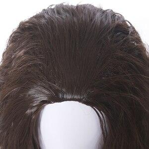 Image 5 - L email peluca Moana para Cosplay, peluca de Cosplay de princesa, rizado largo, marrón oscuro, cabello sintético resistente al calor para Halloween