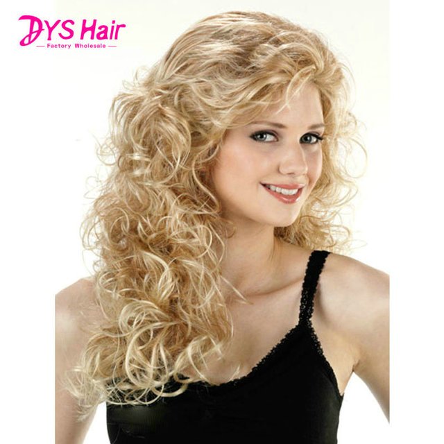 Best Afro Kinky Curly Wigs Hair Long Blonde Wig Cosplay Heat Resistant African American Natural Cheap Hair Wig 150% Density 26''