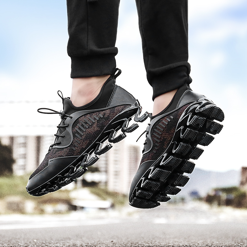 New Outdoor sports shoes high quality design knife slingshot Men running shoes Men sneakers Breathable cushioning sneakers men