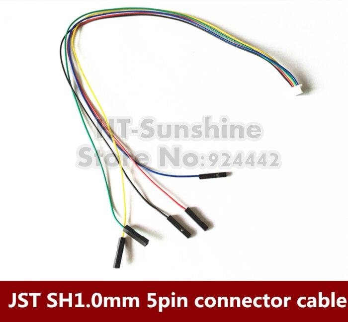 100 шт./лот JST 1.0 мм SH1.0mm 5pin соединительный кабель Провода с DuPont 1pin 1 P кабель