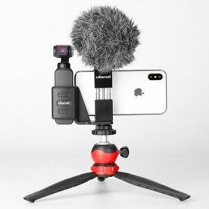 Image 5 - DJI OSMO przenośny kieszonkowy podstawka pod telefon uchwyt na z mikrofonem do montażu na zimno OSMO kieszeń Vlogging akcesoria do aparatu