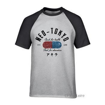 Neo Tokyo camisetas de manga corta Camiseta para hombre algodón purificado estilo de verano camisetas únicas cuello redondo regalo del día del novio
