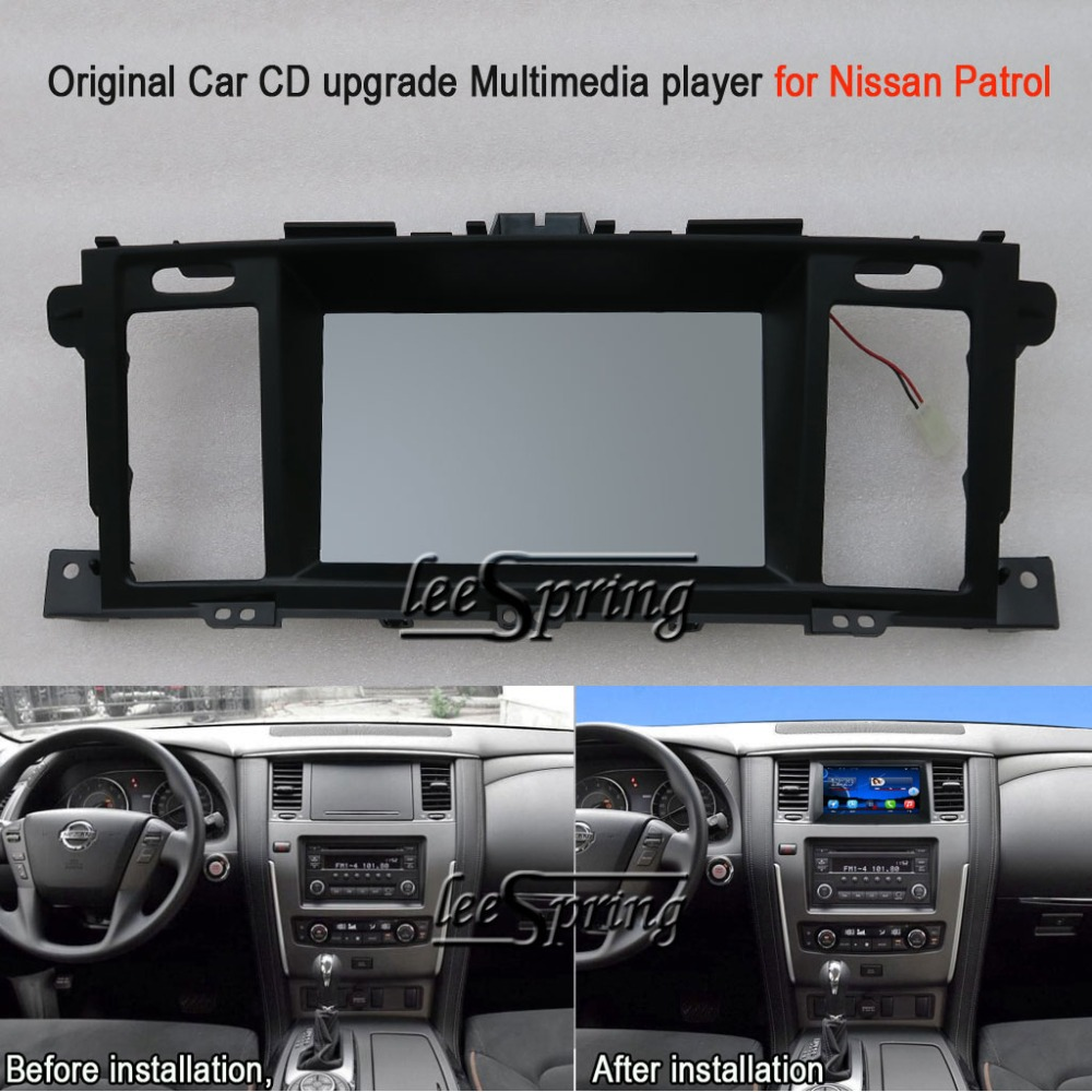 Original Car CD upgrade Multimedia player for Nissan Patrol (Original Car with Glove Box) with GPS Wifi