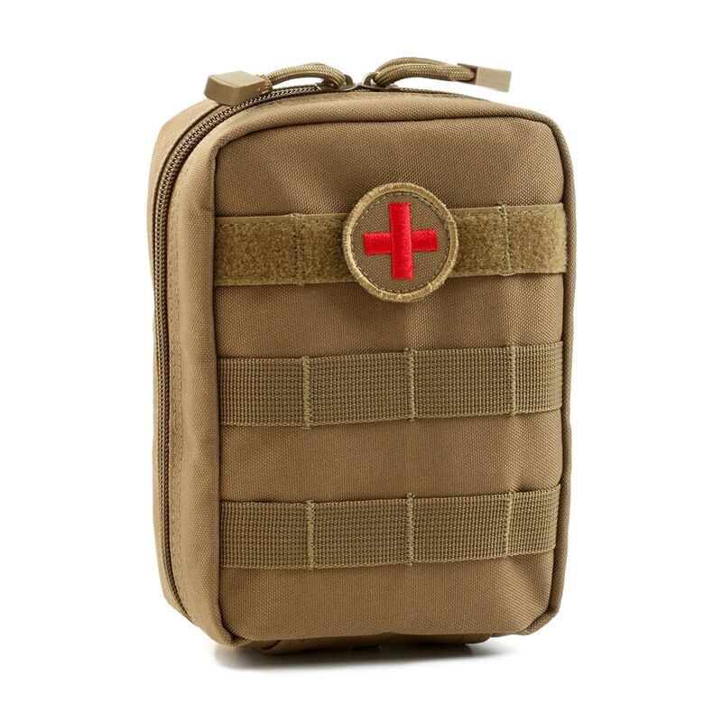 Tactical Medical Camping First Aid Kit Patch Bag Outdoor Utility Pouch Molle Medical Cover Hunting Emergency Survival Package grid carrot pants