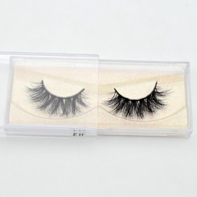 Visofree Mink Eyelashes 100% Cruelty free Handmade 3D Mink Lashes Full Strip Lashes Soft False Eyelashes Makeup  Lashes E11 5