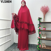 Ramadan Abaya Dubai Muslim Dress Turkey Islam Hijab Set Kaftan Abayas For Women Jilbab Caftan Prayer Clothing Elbise Robe Femme