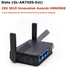 GL. iNet GL AR750S 802.11ac 750 Mbps אלחוטי נסיעות Gigabit AC נתב OPENWRT מיני WiFi נתב USB 16 MB Nor פלאש + 128 Nand פלאש