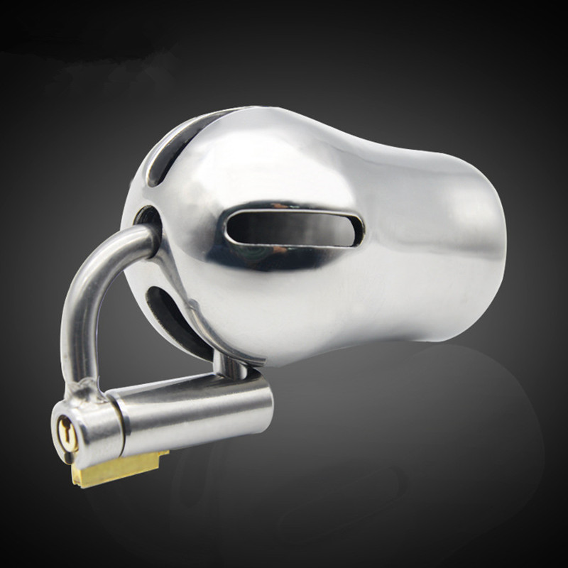 Extreme Confinement Chastity Cage Scrotal Pendant Stainless Steel Chastity Device Metal Cock Cage Penis Lock for Men B2-2-153