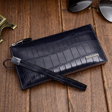 Free shipping  Leisure brand men's hand bag leather wallet long leather handbags men male package hand caught male