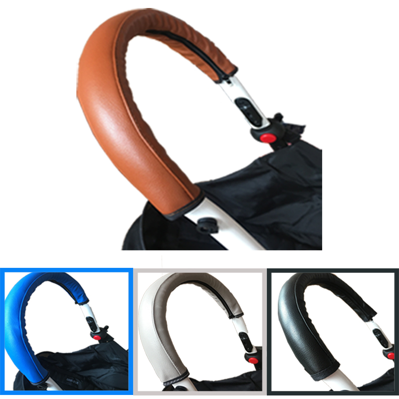2018 Housse de protection en cuir PU pour poignée de poussette bébé pour babyyoya yoya yoyo accessoires de landau poussette