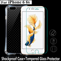 "For iPhone 6 6S 4.7""Full Protection TPU Air Cushion Protective Shell Case Shockproof Cover+Tempered Glass sreen Protector film"
