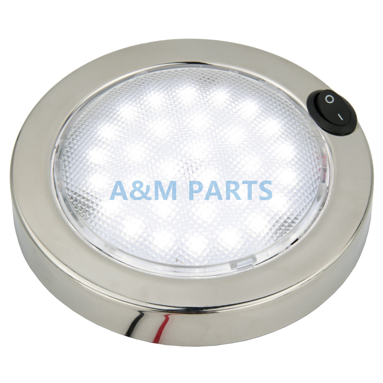 """Stainless Steel 4/"""" OD Lens NEW IN BOX  BOAT  RV Dome Light"""