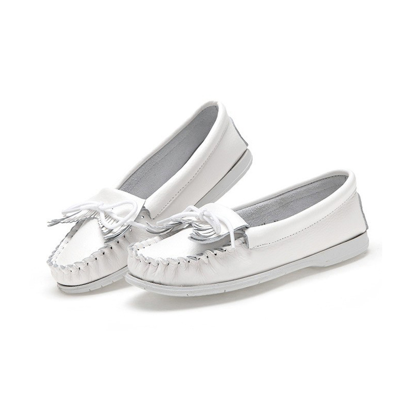 a629d76a868 Vanmie Brand 2019 Women Shoes Women Flats Woman Tassel Fringe Ballet Flats Loafers  Moccasin White Nurse Shoes Female Shoes-in Women s Flats from Shoes on ...
