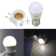EU Type LED Under Cabinet Light Plug Adapter E27 Socket to Bulb Lamp Holder for Wardrobe Closet Kitchen Led Night light