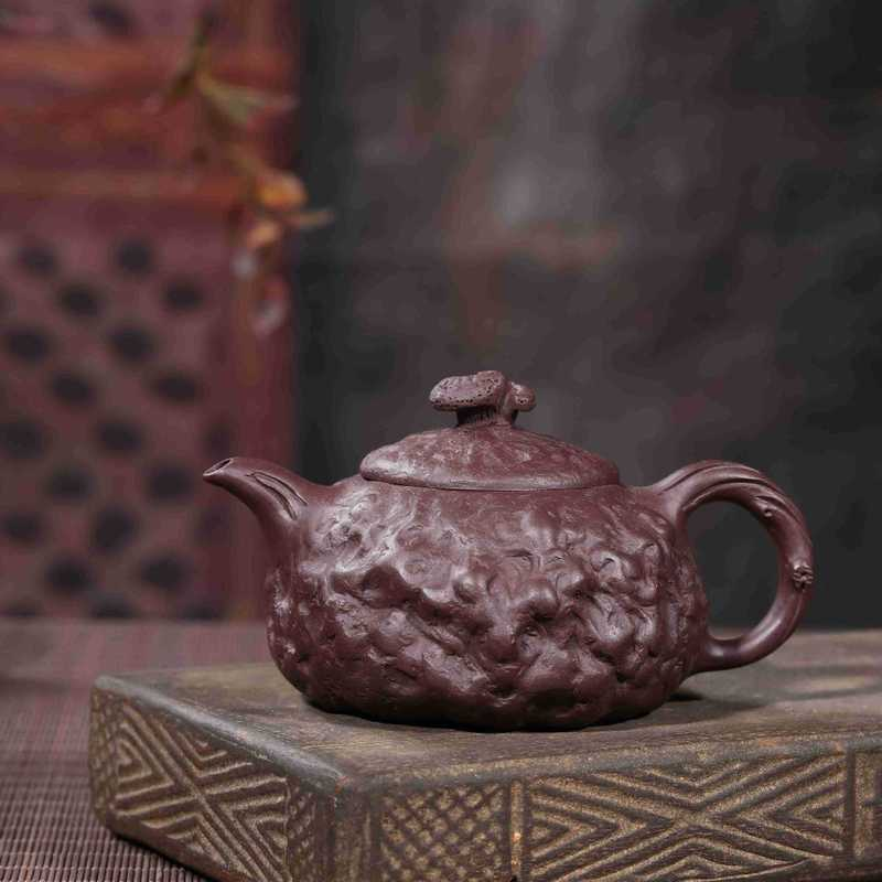 Gong Chun pot of traditional manual undressed ore painted purple mud carved the teapot tea wholesale gift manufacturerGong Chun pot of traditional manual undressed ore painted purple mud carved the teapot tea wholesale gift manufacturer