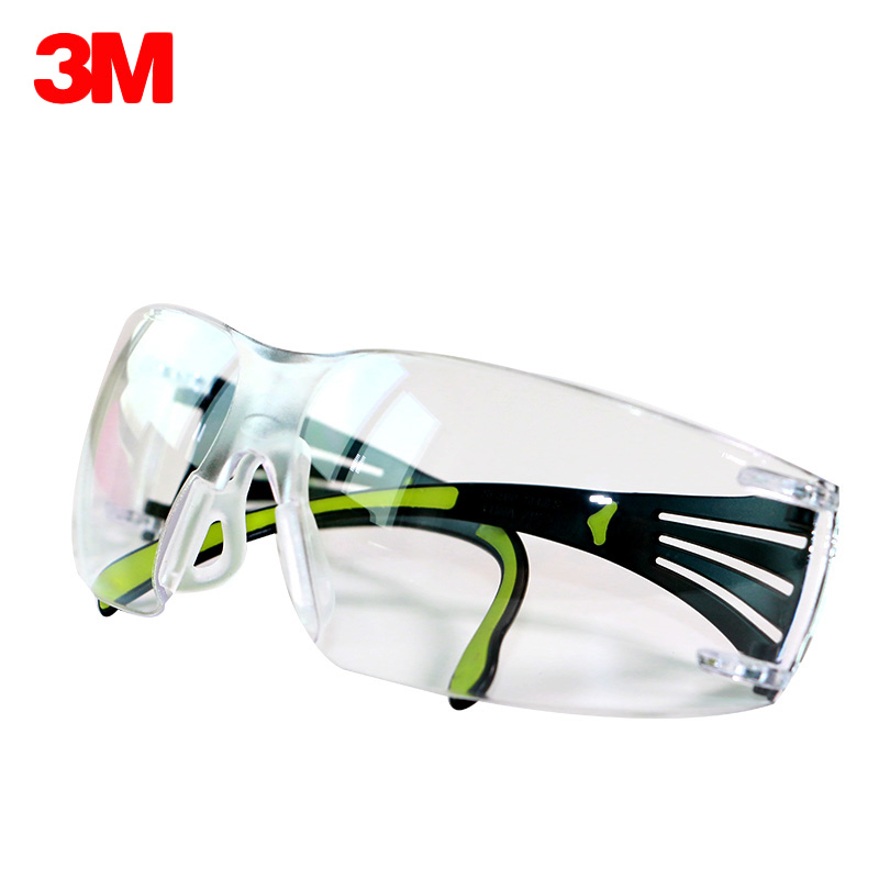 цена на 3M SF401AF Safety Goggles Transparent Secure fit Eyewear Anti-sand Anti-UV Windproof Anti Dust Working Riding Protective Glasses