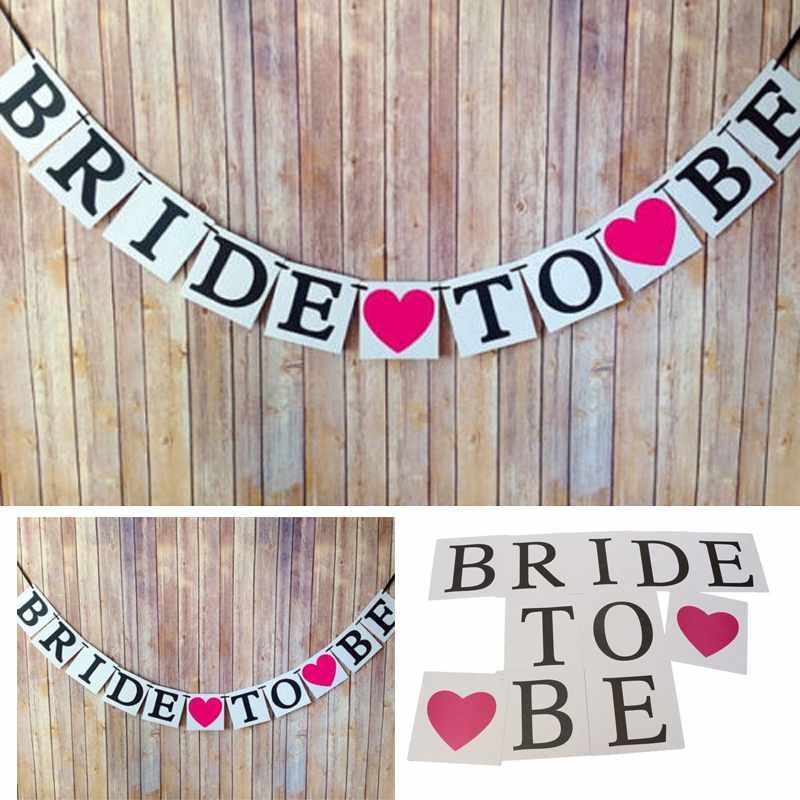 Bride To Be Garland Wedding Banner Bridal Shower Photo