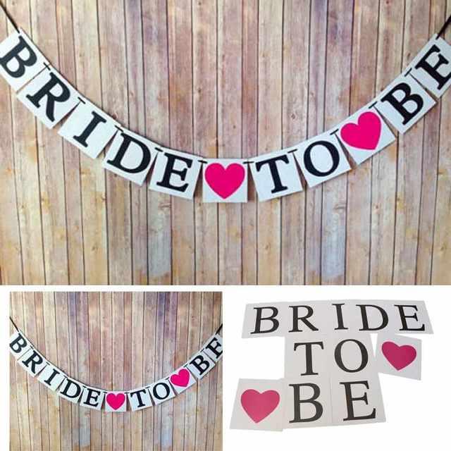Best Bride To Be Garland Wedding Banner Bridal Shower Photo Props Hen  KF06
