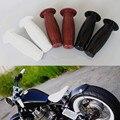 """7/8 """"и 1"""" ручка Бар Ретро Резина Мотоцикл Велосипед Урожай Кокс Бутылка Рукоятка Для Harley Truimph Кафе Пользовательских"""