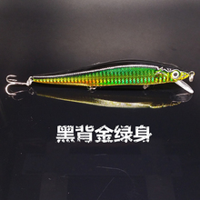 14cm 22g Fishing Lure Minnow Hard Bait 3 Treble Hooks Pesca Tackle Lures Bass Crank Baits Swimbait 3D Eyes Japan Laser Luminous