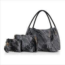 Bolsas de luxo Mulheres Sacos De Designer De 2018 Bolsas e Bolsas Conjunto 4 peças Sacos Feminino Bolsa Feminina PU Rígido