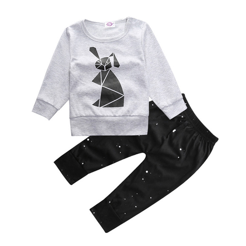 Autumn Baby Set Fashion Newborn Boys Clothing Set Cotton Baby Boy Clothes Sets Long Sleeve Tops+Pants Cartoon Clothes For Baby