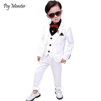 Свадебный костюм для мальчиков, детский праздничный костюм с принцем для сцены Детский Школьный костюм с цветочным принтом на день рождени... >> KUNABELL-Liu Store