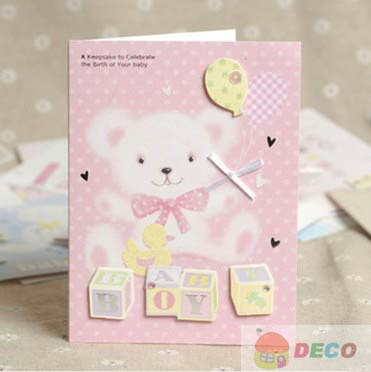 1PC 10.5x14cm New Baby Cards New Birth Card Greeting Card Wholesale Price (SS-6268-1)