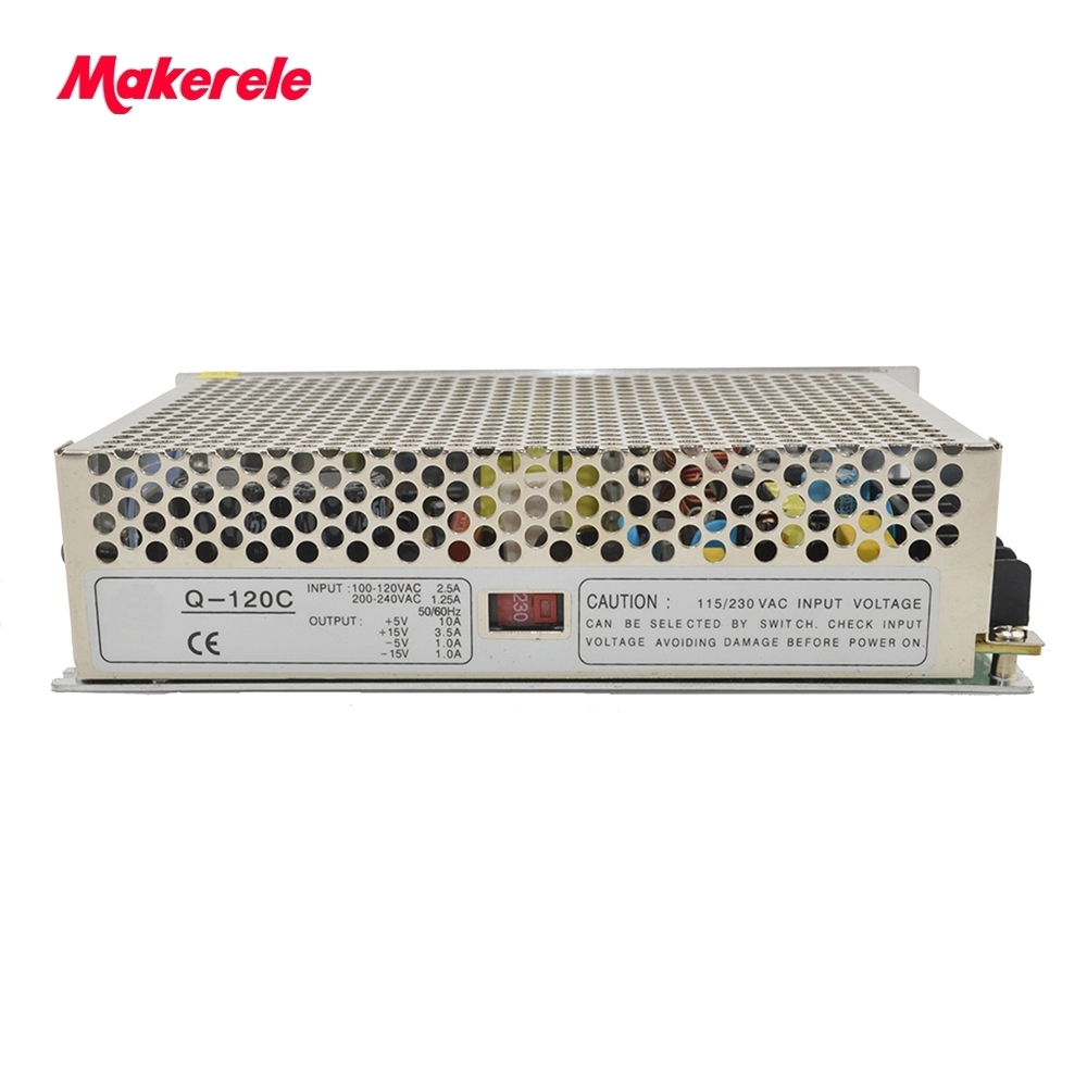 quad output power supply 120W 5V 15V -5V -15V power suply Q-120C  Amultiple output ac/dc power supply
