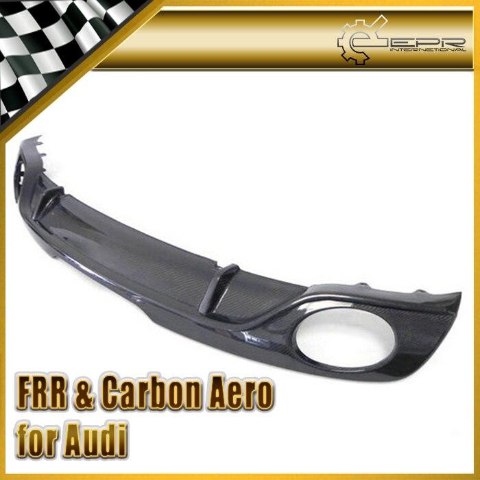 Car styling For Audi TT MK2 Type 8J Carbon Fiber Rear Diffuser Type O for TTS