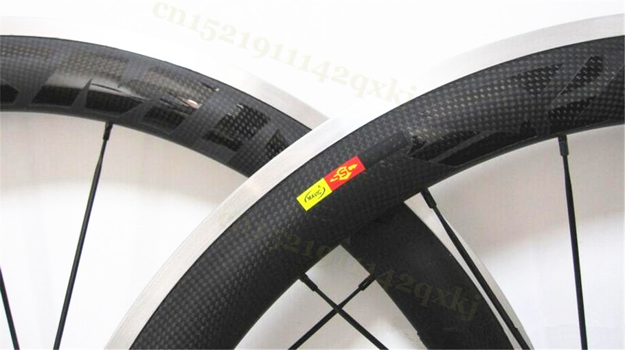 High Quality 700c Road Bicyle For Clincher 23mm Wide Carbon Wheelset Alloy 38 50 60 90mm