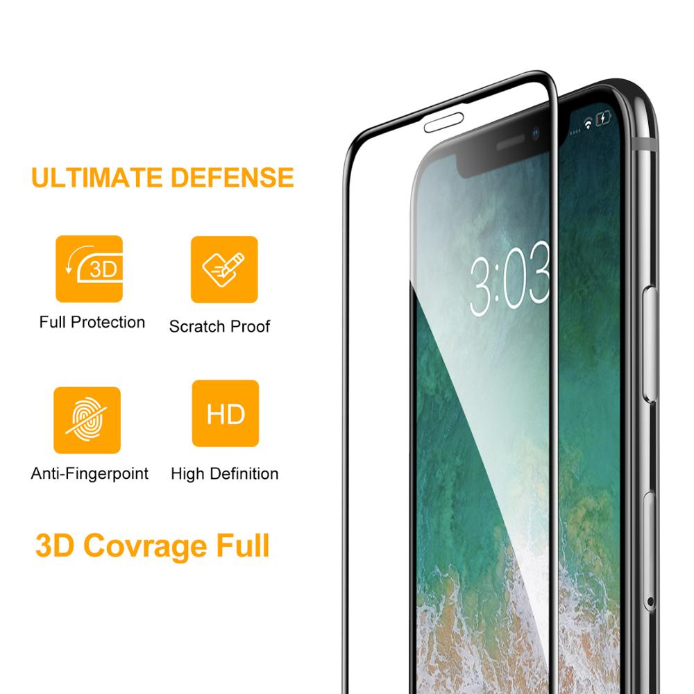 Smart Devil Tempered Glass for Iphone XR X Screen Protector HD Full Coverage for Iphone Xs Max Screen Protector Scratch Proof in Phone Screen Protectors from Cellphones Telecommunications