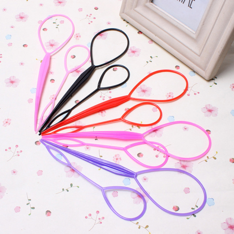 Hot Sale 2 Set Magic Hair Braiding Twist Curler Styling Set Hairpin Holding Hair Braiders Pull Hair Needle Ponytail DIY Tool in Braiders from Beauty Health