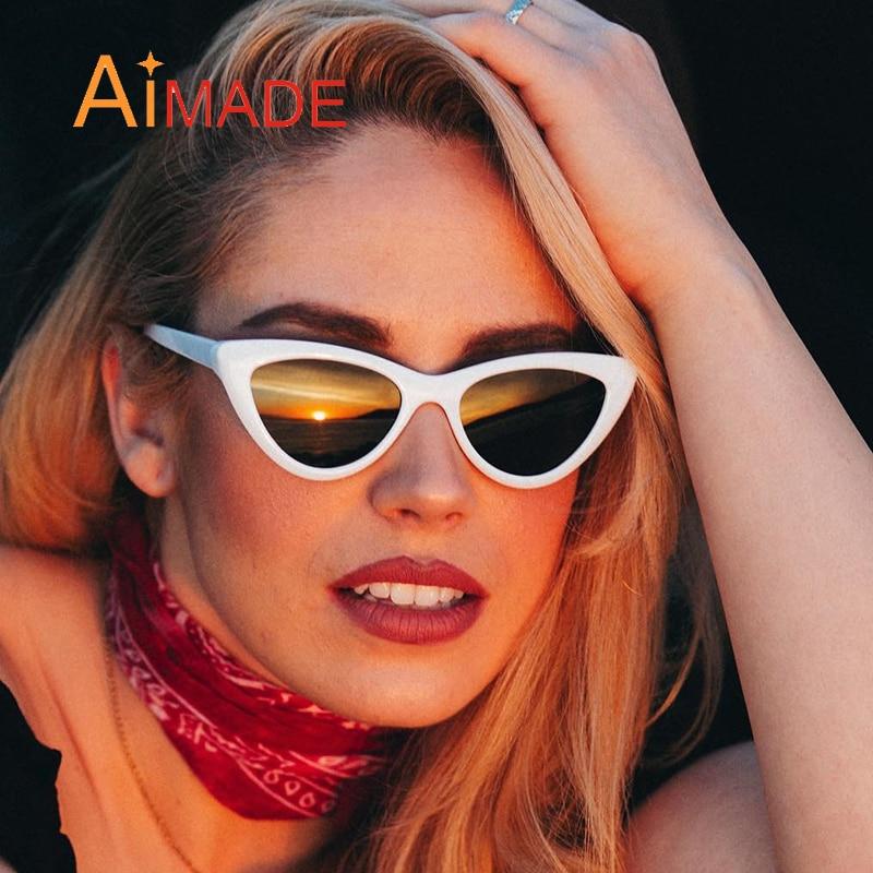 Aimade 2018 Moda Bonito Sexy Cateye Olho de Gato Retro Óculos De Sol Das  Mulheres Designer de Marca Do Vintage Óculos de Sol Para Senhoras Femininos  UV400 ... 83f10f0766