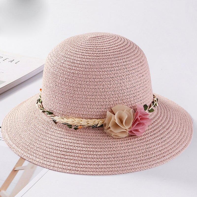 b24f5d2be7a51 SUOGRY Marca de Verão Chapéus de Sol para As Mulheres Grandes com Fitas Arco  Praia Cap